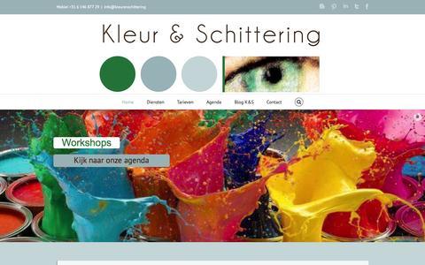 Screenshot of Home Page kleurenschittering.nl - Kleur en schittering - captured Oct. 6, 2014