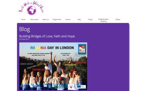 Screenshot of Blog youthwithaglobalvision.org - Youth with a Global Vision - captured Sept. 20, 2018