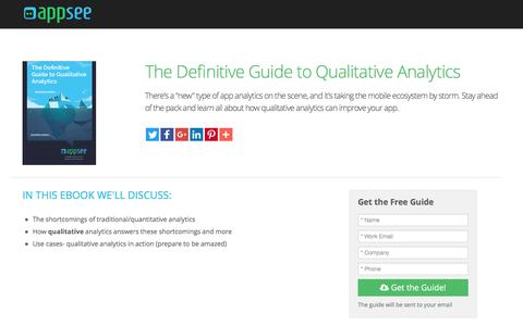 Screenshot of Landing Page appsee.com - The Definitive Guide to Qualitative Analytics | Appsee - captured Aug. 18, 2016