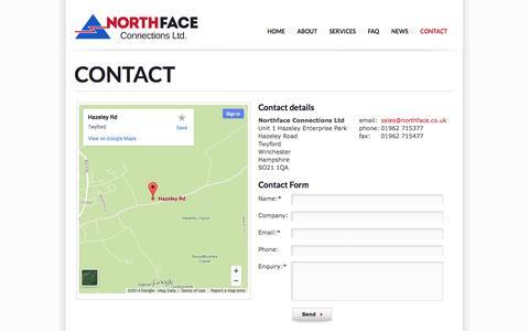 Screenshot of Contact Page northface.co.uk - Contact Us - captured Oct. 6, 2014