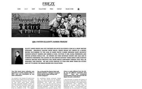 Screenshot of About Page elliottjfrieze.com - Elliott Frieze | About - captured Nov. 24, 2016