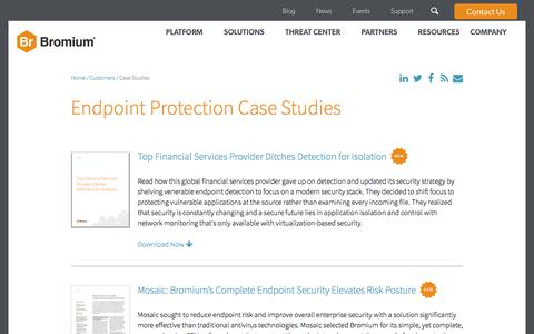 Screenshot of Case Studies Page bromium.com - Endpoint Protection Case Studies   Bromium - captured Nov. 9, 2017