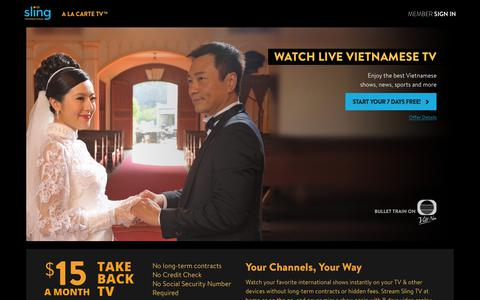 Sling TV - Watch Live Vietnamese Channels on the #1 Live International TV provider in the US
