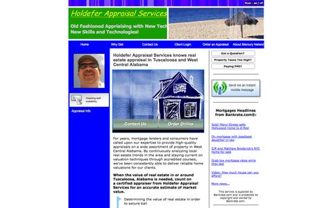 Screenshot of Home Page hasllc.net - Real Estate Appraiser in Tuscaloosa County, Alabama (205) 759-1026 - captured Oct. 3, 2014