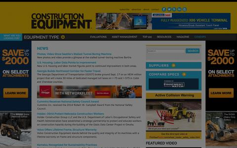 Screenshot of Press Page constructionequipment.com - | Construction Equipment - captured Sept. 22, 2014