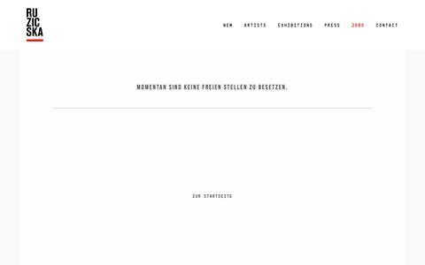 Screenshot of Jobs Page ruzicska.com - Galerie Nikolaus Ruzicska - captured April 19, 2018