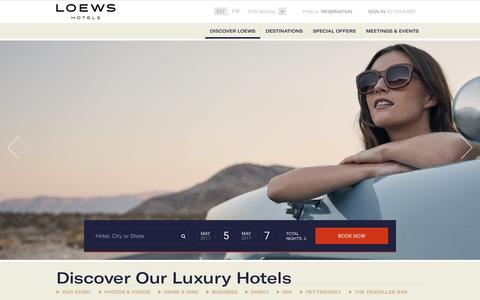 Luxury Hotels | Loews Hotels and Resorts