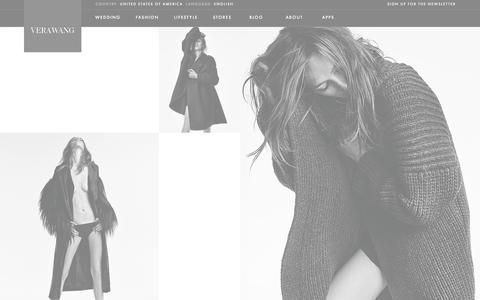 Screenshot of Home Page verawang.com - Vera Wang | Wedding Dresses, Bridal Gowns, Designer Clothing - captured Sept. 19, 2014