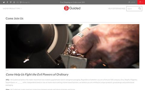 Screenshot of Jobs Page guided.com - Come Join Us - Guided.com - captured Sept. 30, 2018