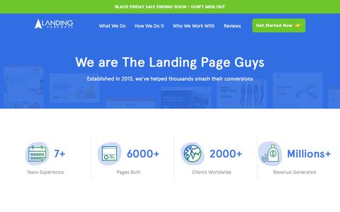 Screenshot of About Page landingpageguys.com - Landing Page Guys - A Team of Over 30 Industry Experts - captured Nov. 26, 2019
