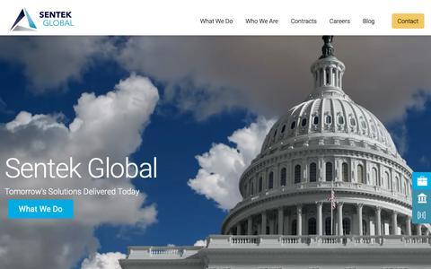 Screenshot of Home Page sentekglobal.com - Cybersecurity Experts: Application Security : Sentek Global - captured Nov. 6, 2018