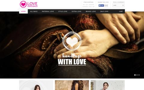Screenshot of Home Page love-handbags.com - Love Handbags | Unique designer leather handbags and hipster bags | Love Handbags - captured Jan. 28, 2015