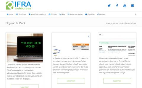 Screenshot of Blog ifra.nl - Blog van Ita Pronk - Webbureau IFRA - WordPress websites en workshops - Internetmarketing - captured Sept. 30, 2017