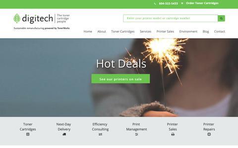 Screenshot of Home Page digitechlaser.com - Digitech - The Toner Cartridge People - captured Nov. 14, 2018