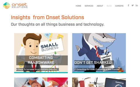 Screenshot of Blog onsetsolutions.com - Blog - Onset Solutions - captured Oct. 19, 2018