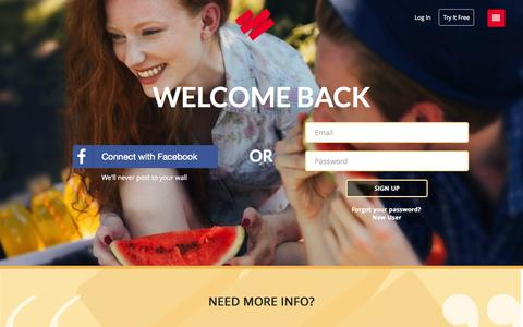 Screenshot of Login Page datingring.com - Home : The Dating Ring - captured Nov. 9, 2015