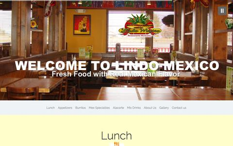 Screenshot of Home Page lindomexicorestaurant.com - Grand Rapids Mexican Restaurant - captured Jan. 26, 2015