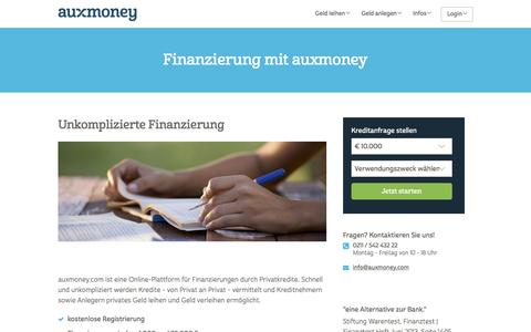 Finanzierung durch Privatanleger » AUXMONEY.com