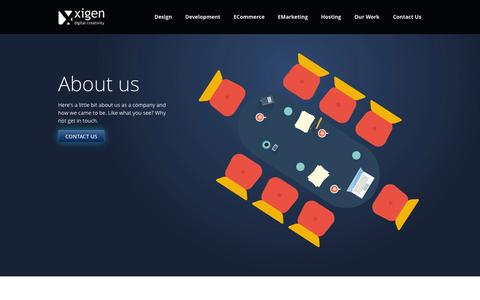 Screenshot of About Page xigen.co.uk - Xigen Design - Web Design Bedford, Web Site Designers, Web Design Agency Bedford - captured Oct. 27, 2014