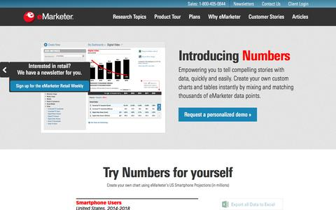 Introducing Numbers   eMarketer