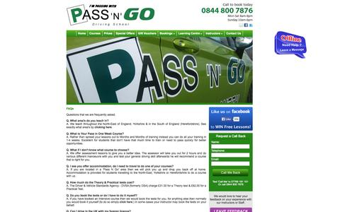 Screenshot of FAQ Page passngo.net - Learning To Drive And Driving Lesson Related Questions And Answers - captured Oct. 1, 2014