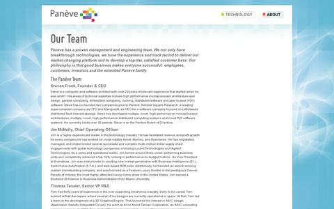 Screenshot of Team Page paneve.com - Our Team | Panève - captured July 19, 2014