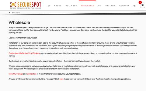 Screenshot of Developers Page securespot.com.au - Wholesale - SecureSpot - captured July 28, 2018