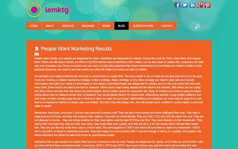 Screenshot of Blog lemktg.com - LEMKTG Marketing Blog - captured Oct. 27, 2014