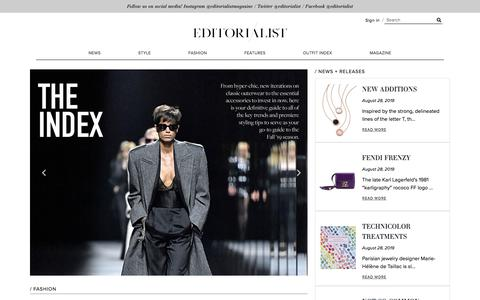 Screenshot of Home Page editorialist.com - Editorialist | Luxury Fashion Accessories Magazine & Online Store - captured Aug. 31, 2019