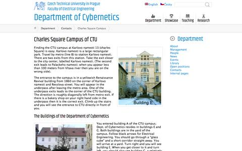 Screenshot of Maps & Directions Page cvut.cz - Charles Square Campus ← Department of Cybernetics - captured Jan. 1, 2017