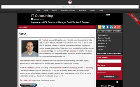 Screenshot of About Page atechapart.com - High-Tech Savvy Consultant, Tech Practitioner, IT & Web Student - captured Sept. 30, 2014