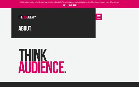 Screenshot of About Page thefilmagency.eu - About – The Film Agency. Think Audience. - captured Sept. 20, 2018