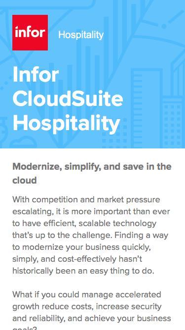 Infor CloudSuite Hospitality