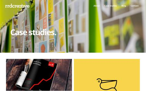 Screenshot of Case Studies Page rrdcreative.com - Case studies. - RRDCreative - captured Sept. 21, 2018