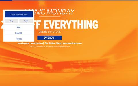 Screenshot of Home Page evertonfc.com - Home | Everton Football Club - captured Dec. 8, 2015