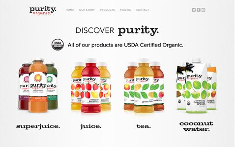 Screenshot of Products Page purityorganic.com - Purity.Organic Juice, Fruit, and Coconut Water | Our Juices - captured Dec. 5, 2015