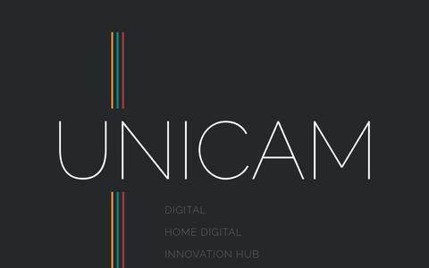 Screenshot of Home Page unicamgroup.com - Unicam - captured Sept. 27, 2016