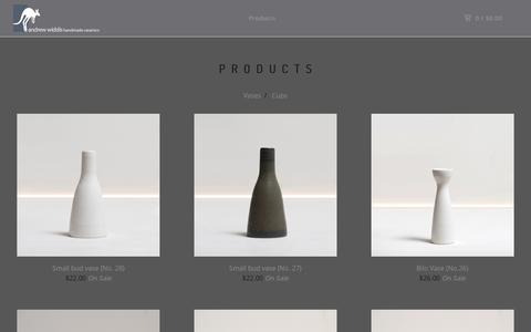 Screenshot of Products Page andrewwiddis.com - andrew WIDDIS — Products - captured Nov. 21, 2016