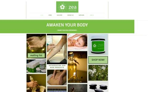 Screenshot of Home Page zeacream.net.au - Zea Product Range | Kunzea Oil | The Official Page - captured Oct. 7, 2014