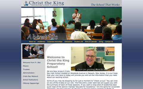 Screenshot of About Page ctkprep.org - Welcome to Christ the King Prep, Newark's Cristo Rey School - captured Oct. 2, 2014