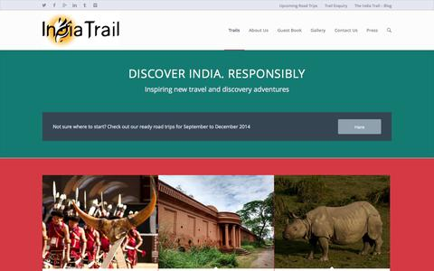 Screenshot of Home Page indiatrail.org - Trails - India Trail - captured Oct. 6, 2014