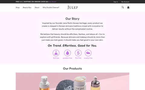Screenshot of About Page julep.com - About Julep - captured July 9, 2018