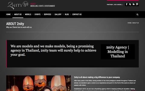 Screenshot of About Page 2nity.com - Modelling agency in Thailand | 2nity - captured Oct. 27, 2014