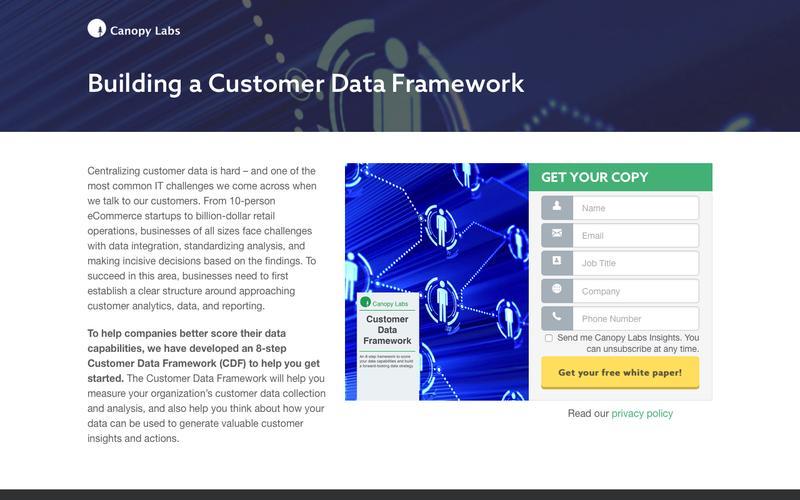 Building a Customer Data Framework - Canopy Labs