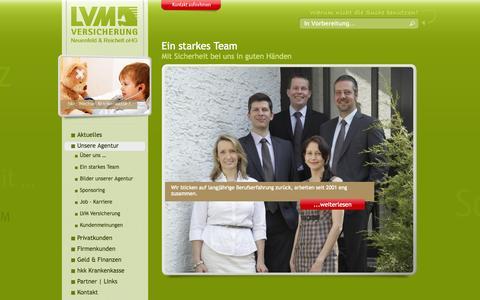 Screenshot of Team Page neu-reich.de - Unser Team || www.neu-reich.de || LVM Versicherungsbüro 16540 Hohen Neuendorf Neuenfeld & Reichelt oHG - captured Oct. 1, 2014