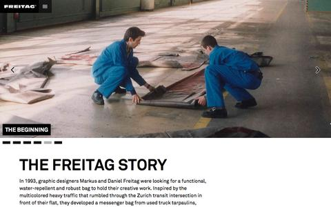 Screenshot of About Page freitag.ch - About FREITAG | Freitag - captured Aug. 3, 2016