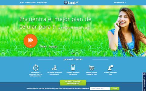Screenshot of Home Page lookup.cl - LookUP: Elige el mejor plan de celular para ti - captured Sept. 16, 2014