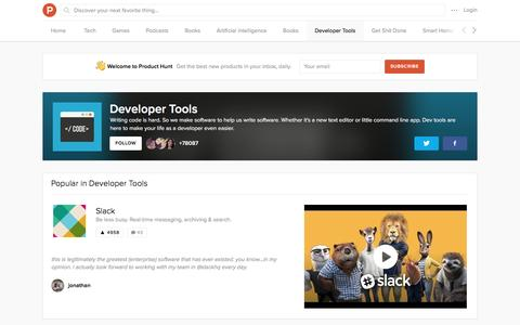 Developer Tools topic on Product Hunt