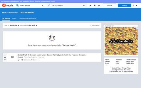 reddit.com: search results - Jackson+Hewitt