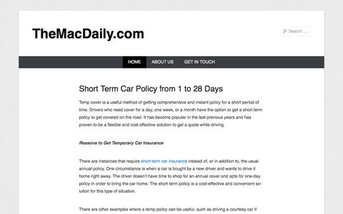 Screenshot of Home Page Menu Page themacdaily.com - TheMacDaily.com - captured Oct. 8, 2014